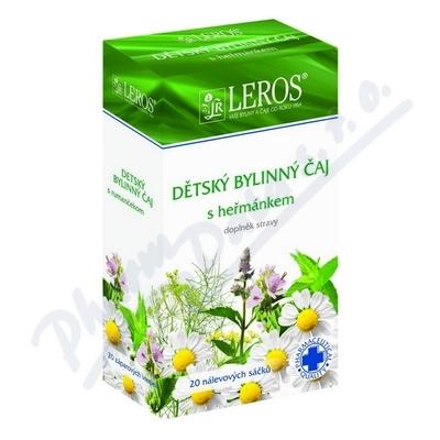 LEROS Dětský bylinný čaj s heřmánkem 20x1.5g