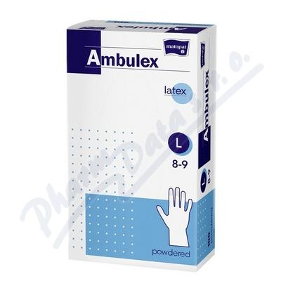Ambulex rukavice latexové jemně pudrované L 100ks