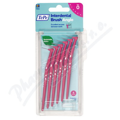 TePe mezizub.kart. Angle růžové 0.4mm 6ks 154610