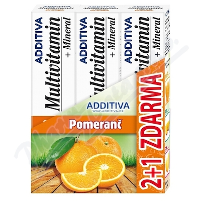 Sada Additiva MM 2+1 pomeranč šumivé tbl.3x20ks