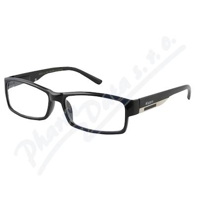 Brýle čtecí +3.00 FLEX černé s kov.doplňkem