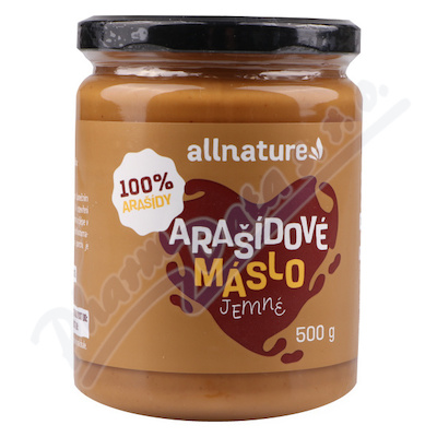 Allnature Arašídové máslo jemné 500g