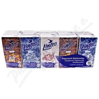 Papírové kapesníky LINTEO 3-vrstvé 15x10 ks