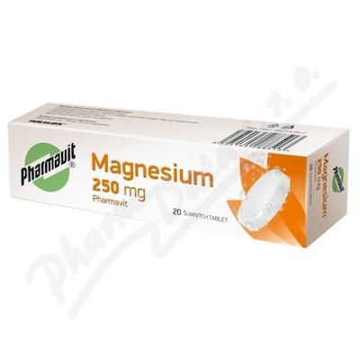 Magnesium/vitamin C Pharmavit 250mg tbl.eff.20