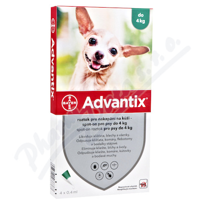 Advantix pro psy do 4kg spot-on a.u.v.4x0.4ml