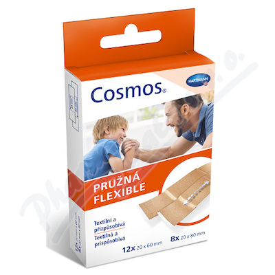 COSMOS náplasti Pružná 2vel. 20ks (Flexible)