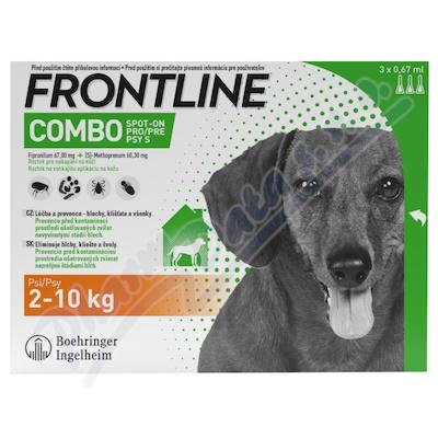 Frontline Combo Spot on Dog 2-10kg pipeta 3x0.67ml