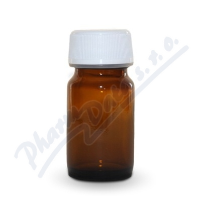 Lékovka 10ml hnědá-šroub.uzáv.(30ks) Fagron