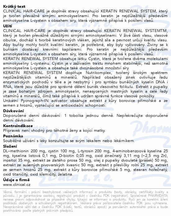 Clinical Hair-Care tob.90+argan.olej20ml-3měs.kúra