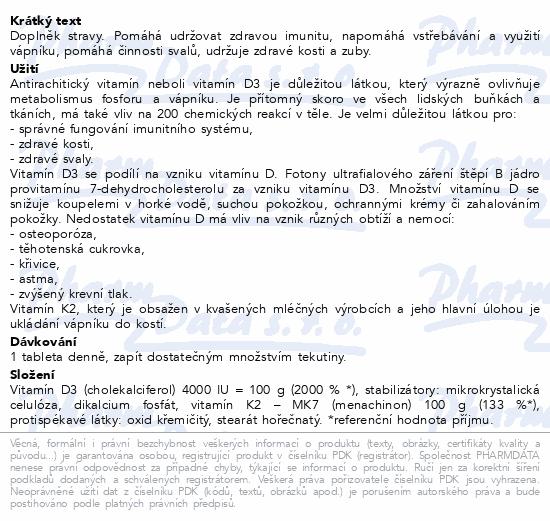Abfarmis Vitamín D3+K2 4000IU+MK7 tbl.30