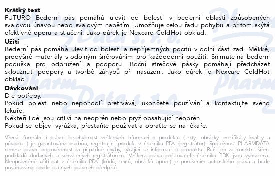 3M FUTURO Bederní pás+Nexcare ColdHot obklad DÁREK